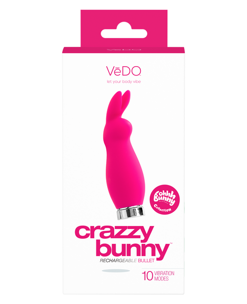CRAZZY BUNNY RECHARGEABLE BULLET - Vedo Singapore