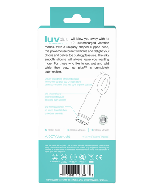 LUV PLUS RECHARGEABLE BULLET - Vedo Singapore