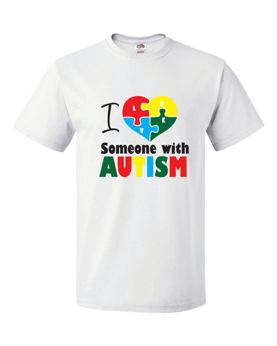 Autism Awareness Shirt - WHITE SHIRT- AU4