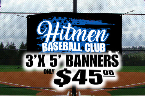 Banners Custom Full Color One Sided Vinyl with 4 Grommets 3ft x 5ft