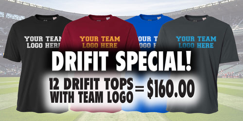DRIFIT TOP SPECIAL - 12 TOPS FOR $160.00
