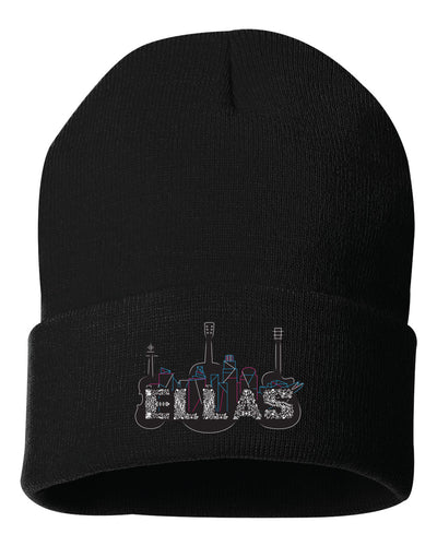 ELLAS - BEANIE BLACK WITH EMBROIDERED LOGO