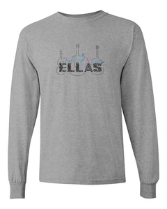 "ELLAS - COTTON LONG SLEEVE ""SPORTS GRAY-SHIRT"" 100% COTTON"