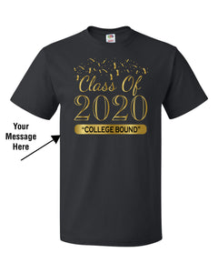 Graduation Tshirt Black and Gold
