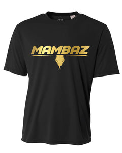 Mambaz - DRIFIT Crewneck Shirt - Black with gold logo