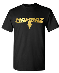 Mambaz - Cotton Tshirt - Black - Gold Print