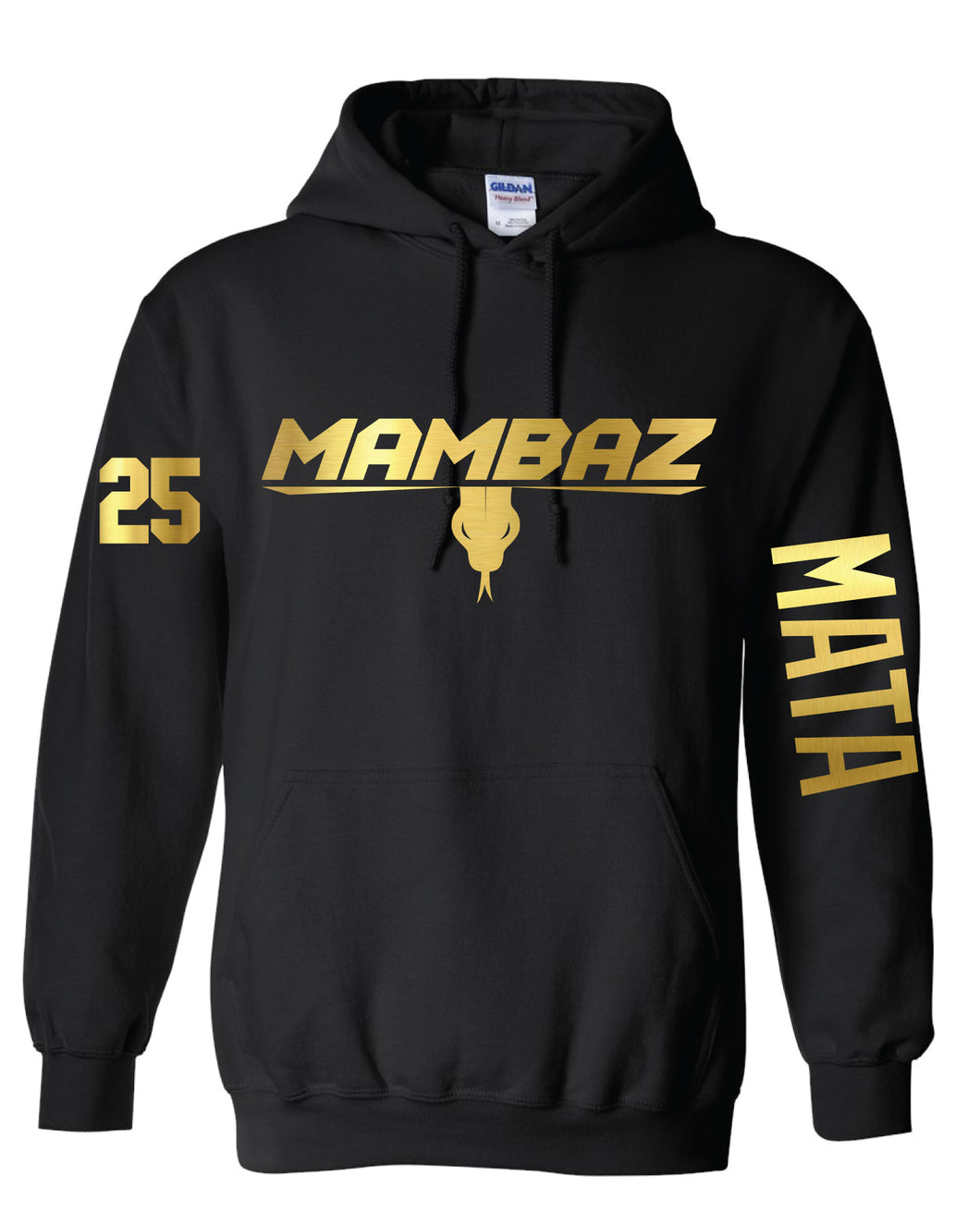 Mambaz - Hoodie - Cotton - Black with gold logo