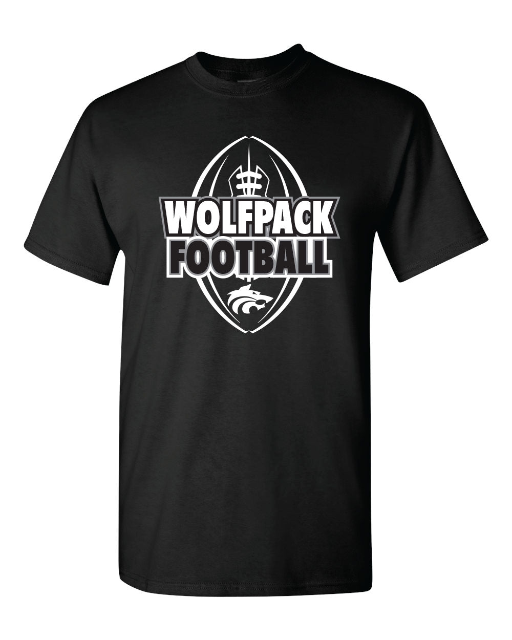 WOLFPACK FOOTBALL - PRIDE SHIRT - BLACK SHIRT