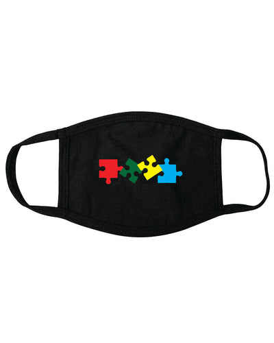 Autism Awareness MASK BLACK AUM1