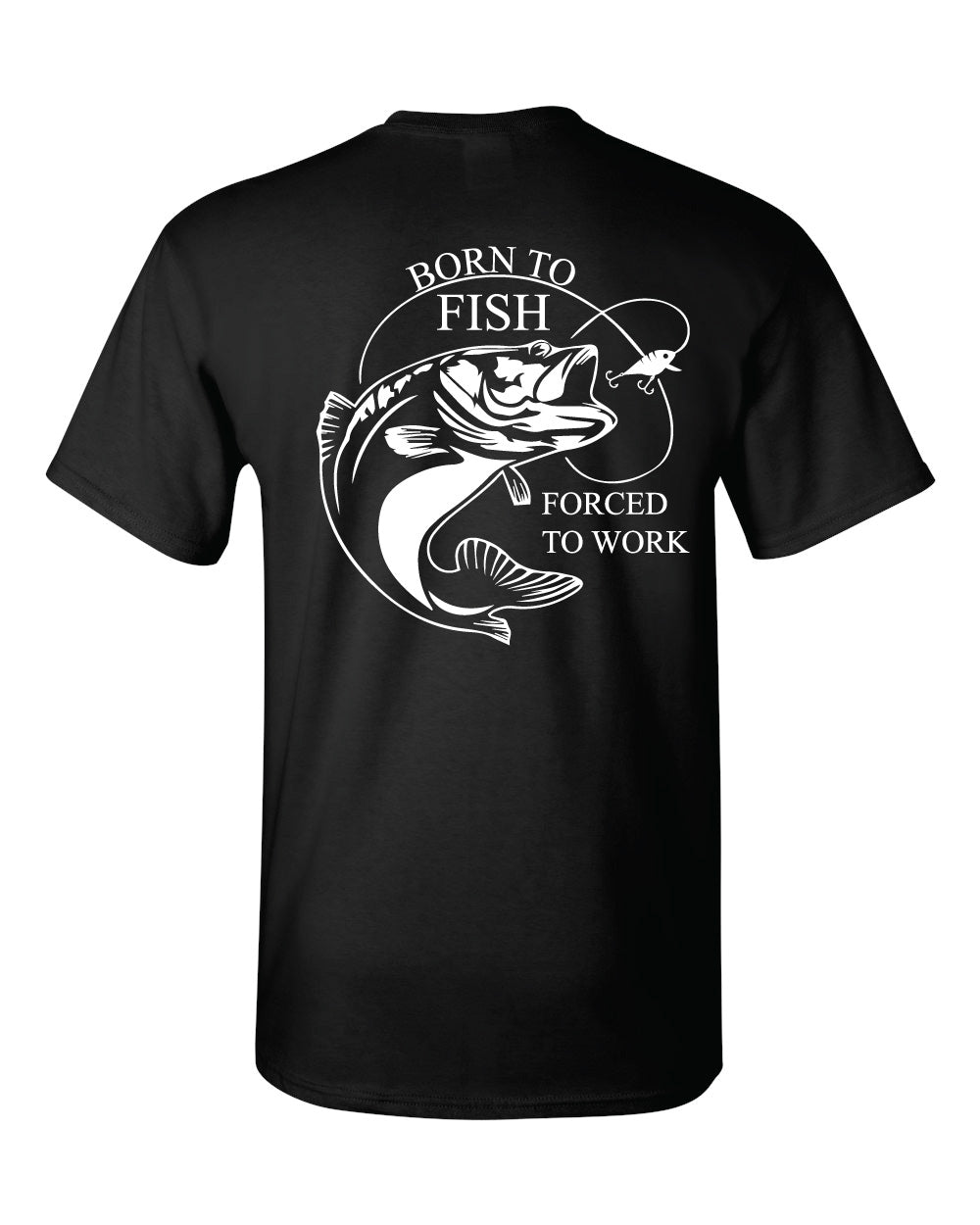 Born to Fish - Black Tshirt