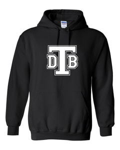 Don Bosco Tech - Hoodie Sweatshirt Black with White Logo