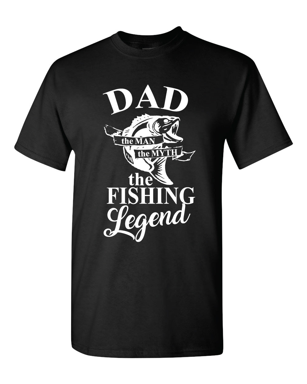Fishing Dad Legend - Black T-Shirt Black