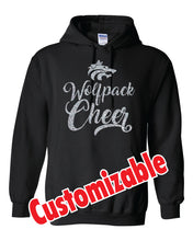 Load image into Gallery viewer, WOLFPACK - GLITTER - HOODIE - BLACK