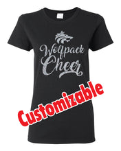 Load image into Gallery viewer, WOLFPACK - GLITTER TSHIRT - BLACK