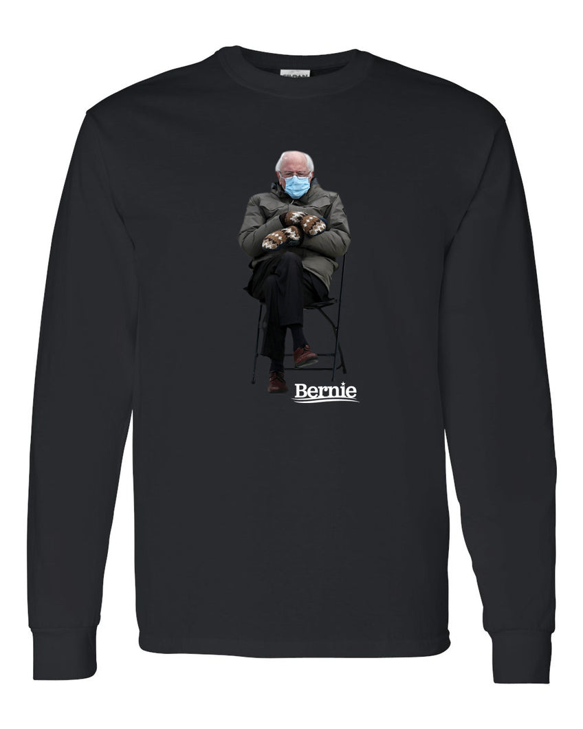 BERNIE - LONG SLEEVE BLACK TSHIRT 2021
