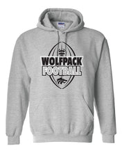 Load image into Gallery viewer, WOLFPACK FOOTBALL - PRIDE HOODIE - GRAY