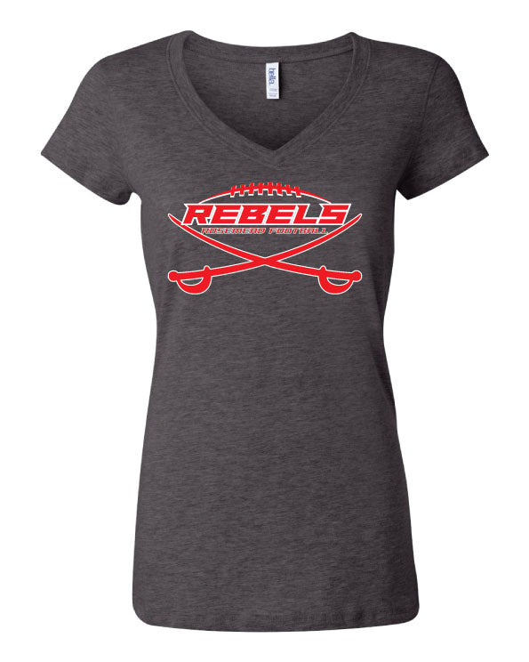 ROSEMEAD REBELS -LADY VNECK 2019 - CHARCOAL
