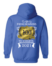 Load image into Gallery viewer, St. George -Royal Blue COTTON/POLY - DRAGONS-TO-KNIGHTS Hoodie