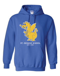 St. George -Royal Blue COTTON/POLY - DRAGONS-TO-KNIGHTS Hoodie