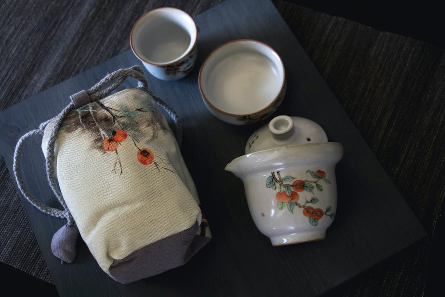 travel tea set, tea set, travel Gaiwan, Gaiwan, travel tea set for 2 people, seattle tea store