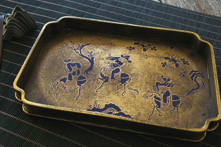 Equestrian Vintage Copper Tea Tray
