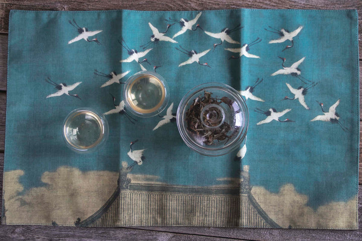 Crane Tea Table Cloth