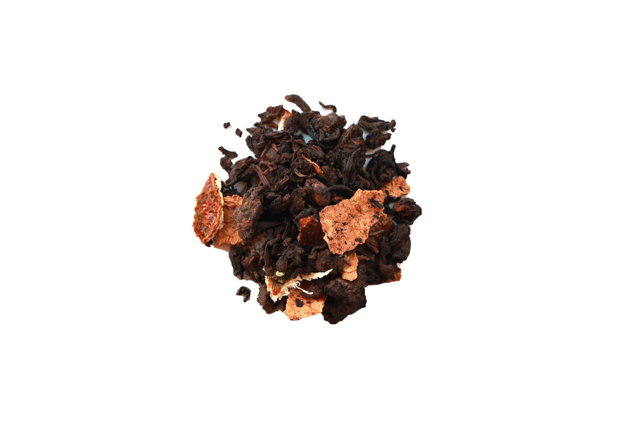 seattle tea store, Chinese Pu' Er, Chen Pi Pu Er, digestion, earthy, mellow, sweet, low caffeine,柑/橘普