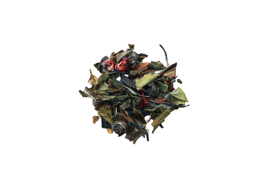 seattle tea store, organic white tea blend, organic rose, organic jasmine pearls, refreshing, spring tea, floral, meditative