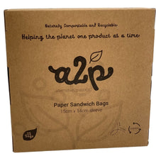 Load image into Gallery viewer, A2P Paper Sandwich Bags Sleeve