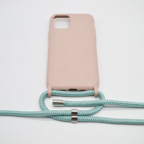 Biodegradable Phone Necklace Rose Mint