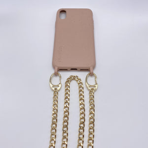 Biodegradable Phone Necklace Snake Silver Sand