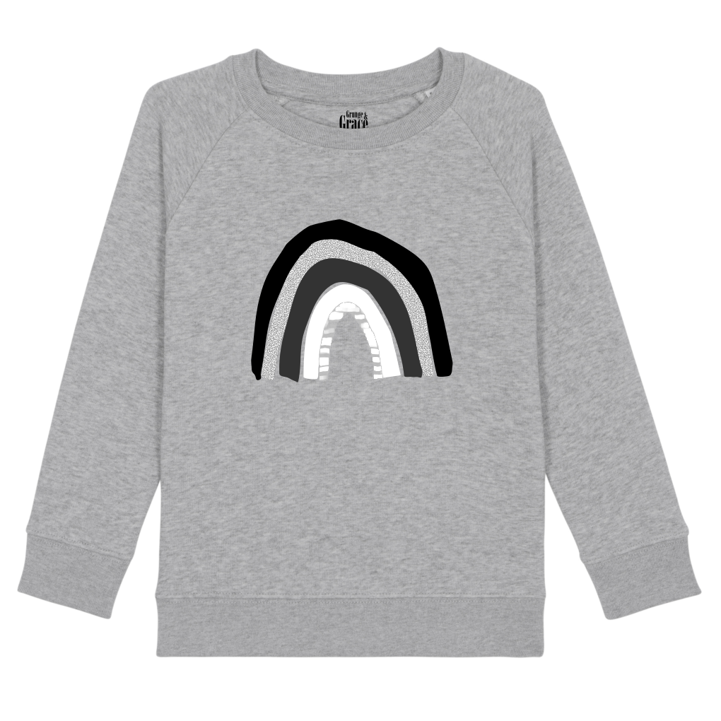 Kids Monochrome Rainbow Sweater