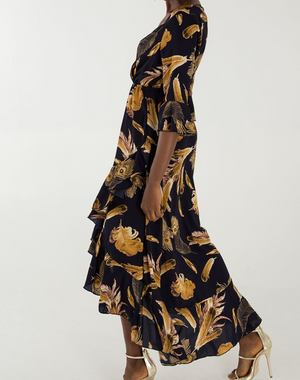 Navy/Gold Maxi Dress