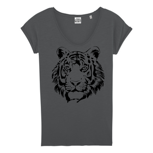 TIGER V-Neck T-Shirt