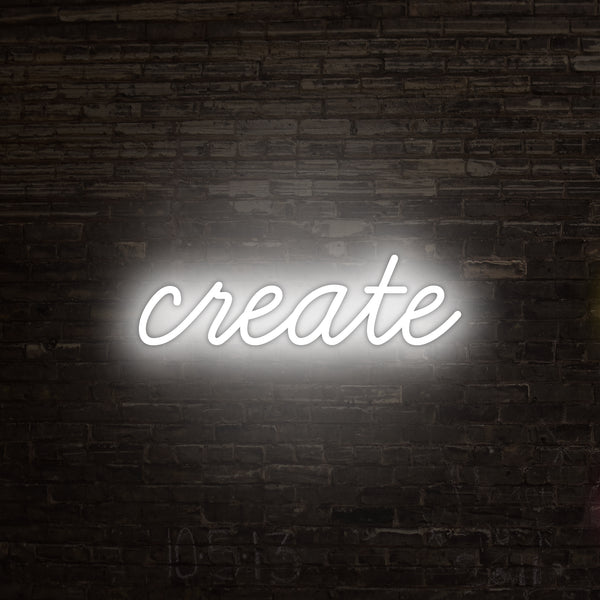 """Create"" Neon Sign, Neon Sign - myNeon"
