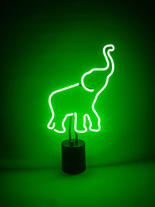 Green Elephant, Neon Light - myNeon