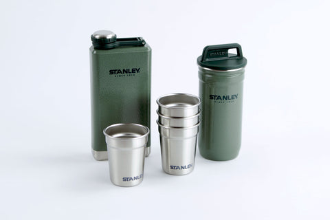 Combo Shot Glass Set + Flasque 236 ml vert Stanley