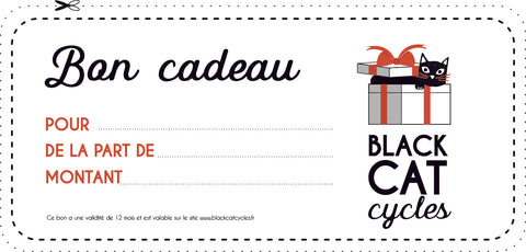 Bon Cadeau Black Cat Cycles