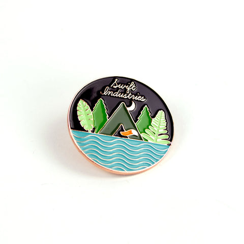 Enamel pin's cascade Swift Industries