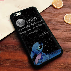 Stitch Ohana Cover Case For IPhone