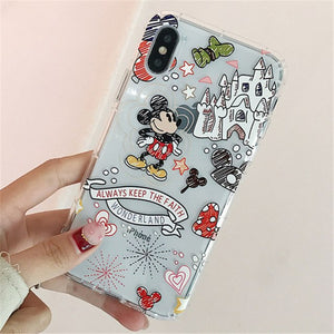 Flowers Lilo Stitch Winnie Airbag Case For iPhone