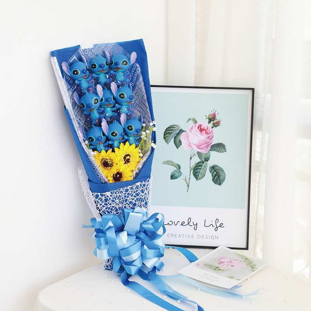 Artificial Lovely Stitch Gift Bouquet