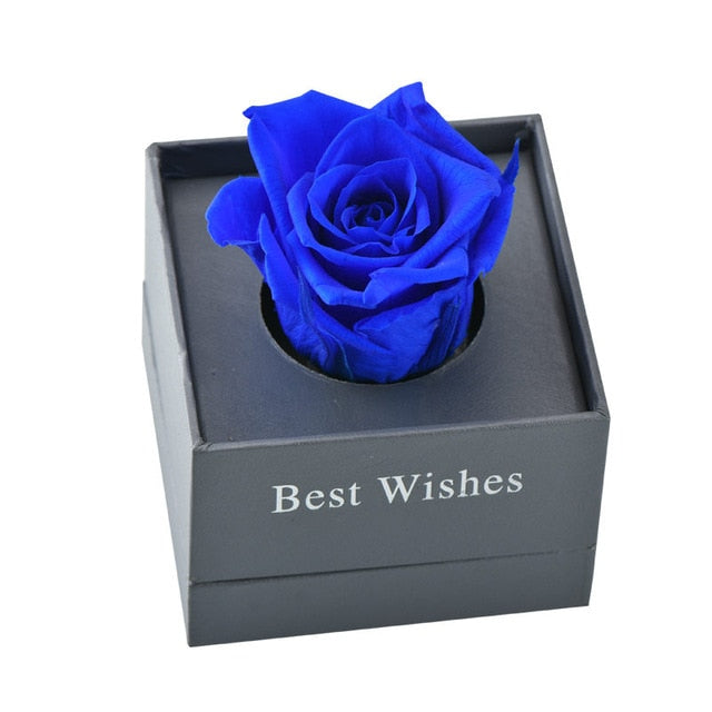 Artificial Flowers with Gift Box Ring Valentine day