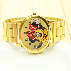 women rhinestone mickey watch