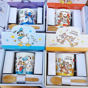 Stitch Donald Duck Mickey Love Mug With Box