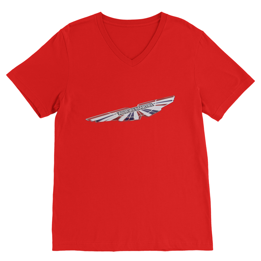 aston martin 2 classic v-neck t-shirt – blu flamingo