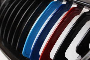 BMW E60 E61 5 Series Grilles - Gloss M Stripes