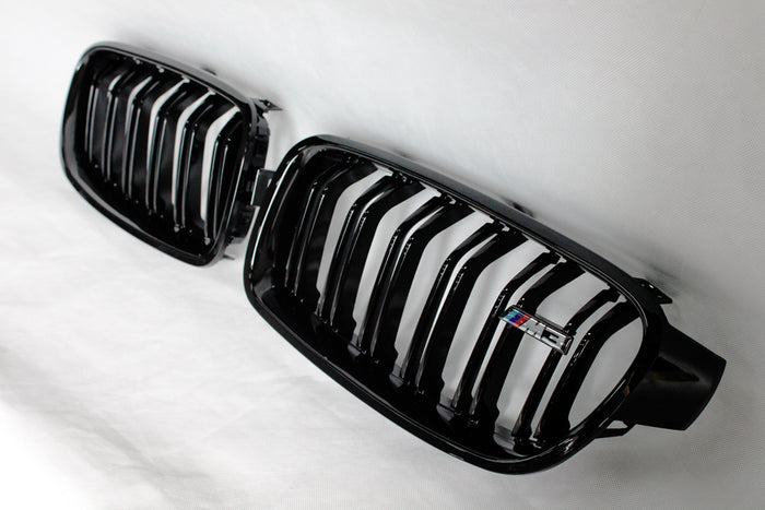 BMW F30/ F31 3 Series M Style Grilles - Gloss Black