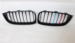 BMW F80 F82 F83 F32 F33 F36 Grilles - Gloss M Stripes