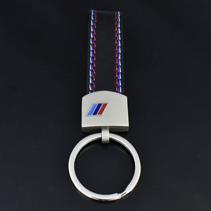 Leather Metal BMW ///M Key chain